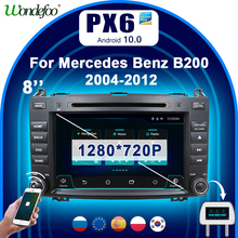 "PX6 8 ""2 דין אנדרואיד 10 רכב רדיו אודיו עבור בנץ אצן B200 W209 W169 b class W245 ויטו W639 A180 A160 2DIN אנדרואיד סטריאו BT"