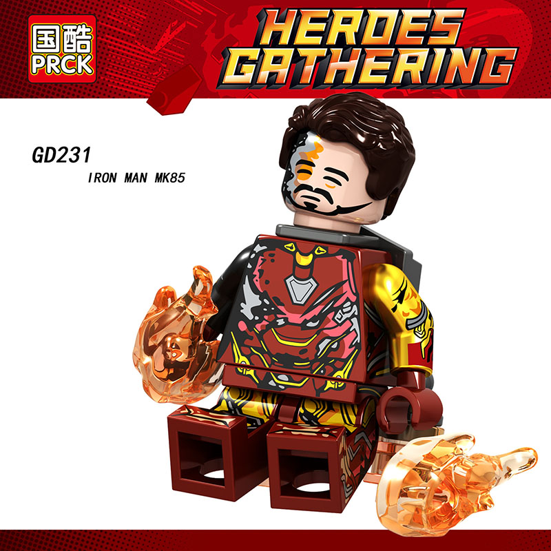 Single Sale Compatible LegoINGlys Super Heroes MiniFigure Iron Man Mk22 Mk50 Mk85 Mk50 Blocks Bricks Toys Christmas Gift GD231