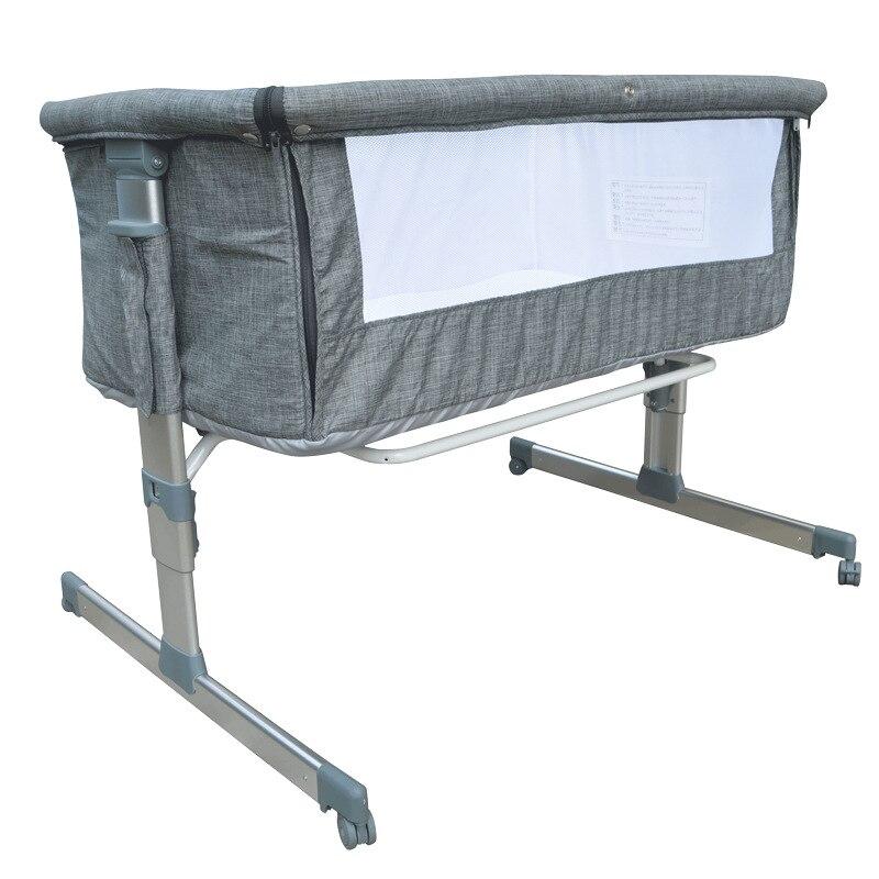 Европейская и американская кроватка Регулируемая по высоте детская кроватка независимая кровать многофункциональная кроватка