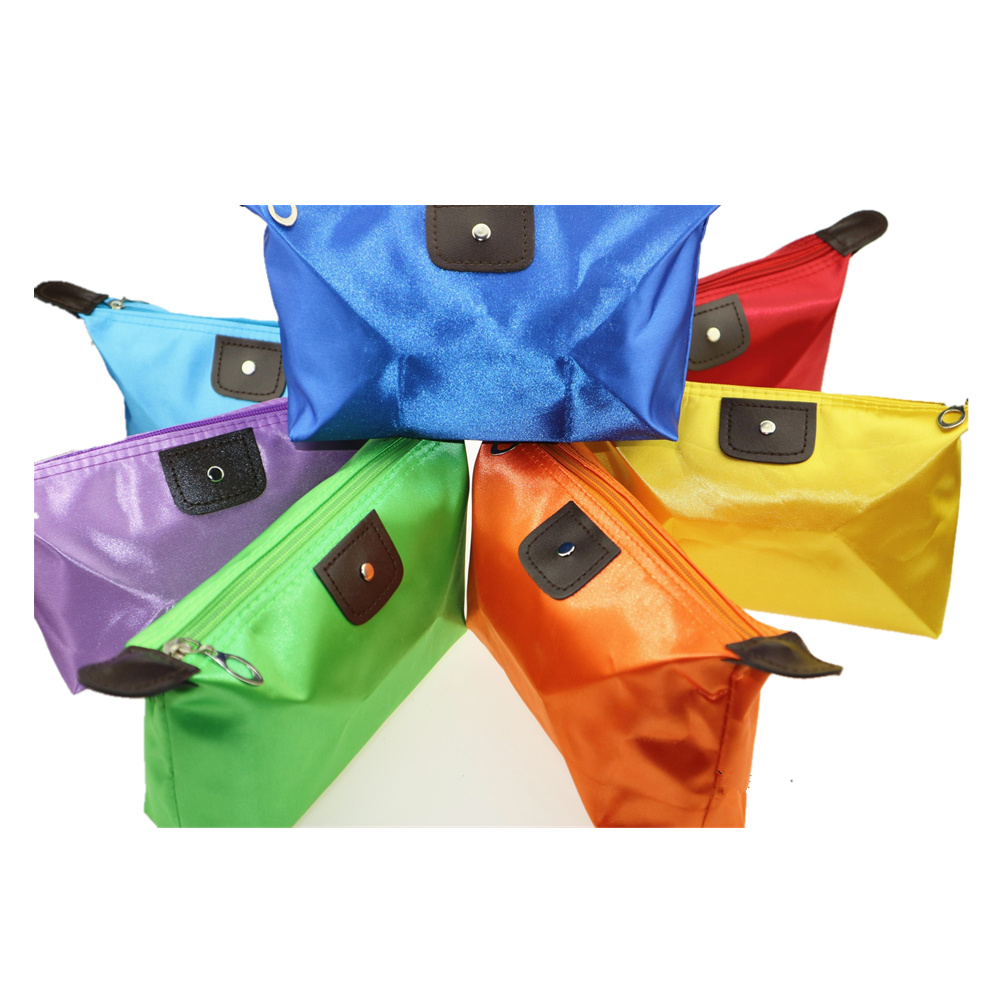 Mercerized Leather Candy-colored Cosmetic Bag Women Fashionable Convenient Travel Waterproof Storage Bag Makeup Dumpling Bag