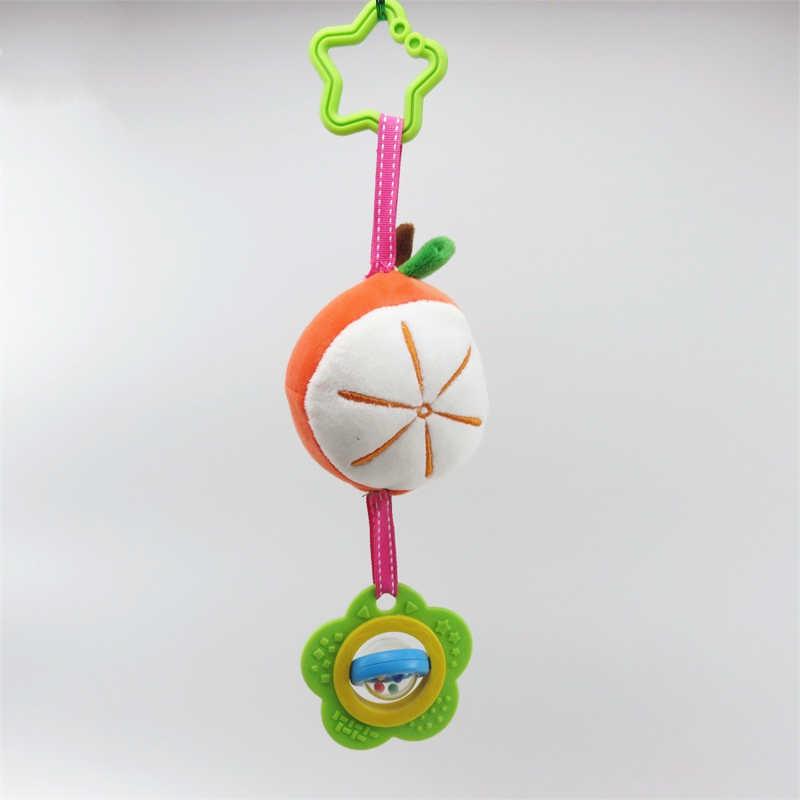 Kartun Stitch Kelinci Tiger Apple Mewah Mainan Bayi Rattle Hand Bell Kereta Dorong Bayi Tempat Tidur Gantung Mainan Natal Hadiah Ulang Tahun