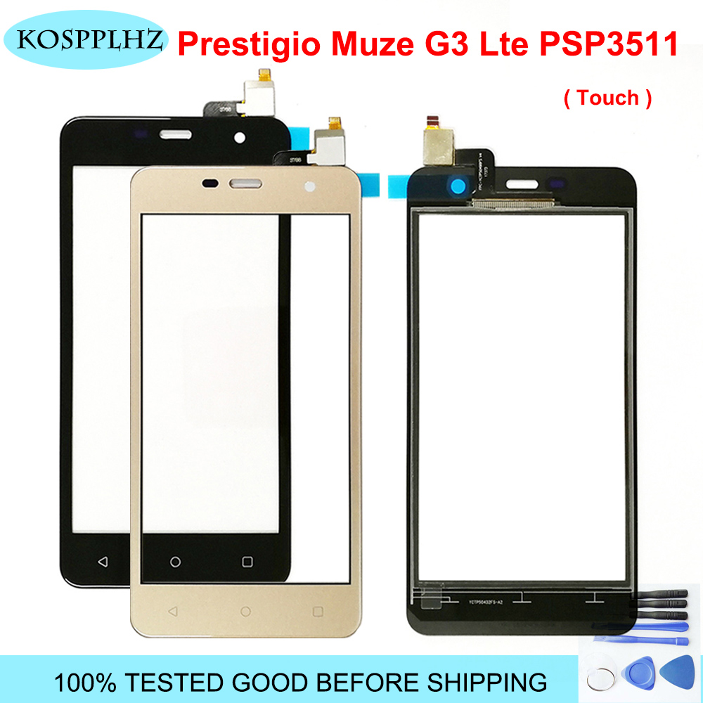 5.0 Inch For <font><b>Prestigio</b></font> Muze G3 Lte <font><b>PSP3511</b></font> Duo PSP3511DUO Touch Screen Panel Digitizer High Quality Front Glass Sensor +Adhesive image