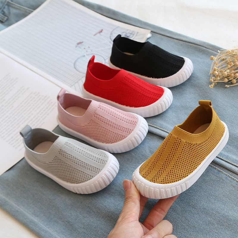 2019 Autumn Baby Girls Boys Casual Mesh Shoes Infant Toddler Shoes Soft Bottom Comfortable Non-Slip Kid Baby First Walkers Shoes
