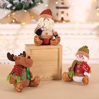 Santa Snowman Deer Shaped Doll Festival Gift Tree Hanging Ornament