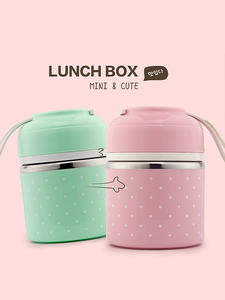 WORTHBUY Cute Japanese Lunch Box For Kids School Portable Food Container Stainless Steel Bento Box Kitchen Leak-Proof Lunchbox