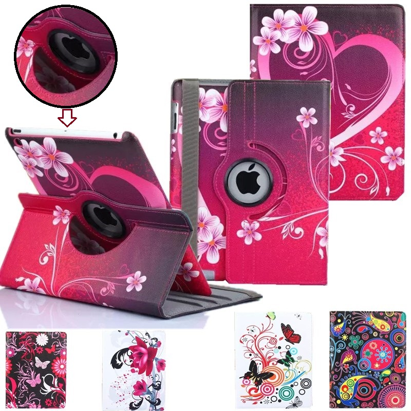 PU Leather Flip Case Cover For Apple IPad Air Air2 Ipad 5/6 Cases Smart Stand Cover For Ipad 2017 9.7