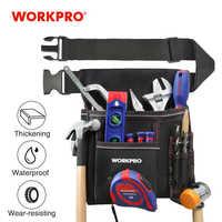 Workpro ferramenta resistente bolsa com cinto ajustável eletricista cintura ferramenta saco multifuncional cinto bolsa