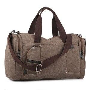 Image 5 - Coreano 2020 novo simples dos homens bolsa casual selvagem grande capacidade saco de lona moda personalidade bolsa de ombro moda bolsa de viagem