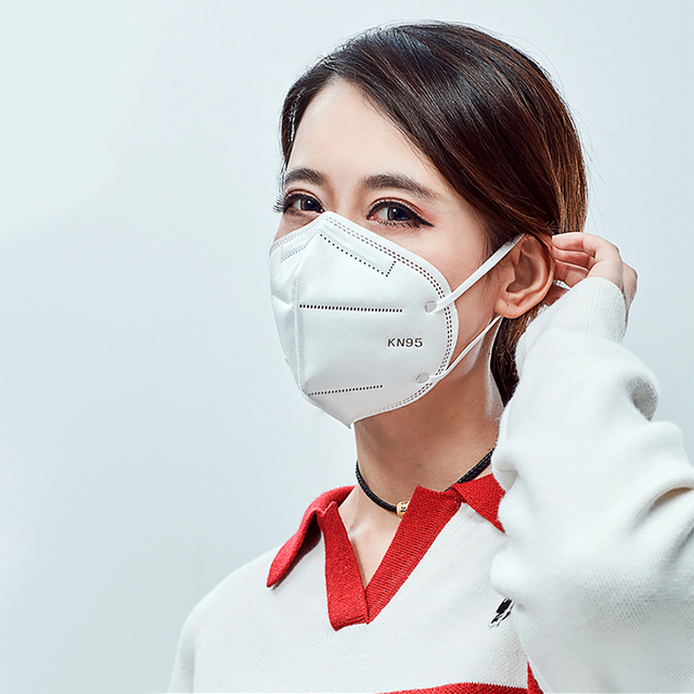 10PCS N95 6 Layers Mask Antivirus Flu Anti Infection KN95 Earloop Activated Carbon Anti-Dust Face Particulate Respirator PM2.5
