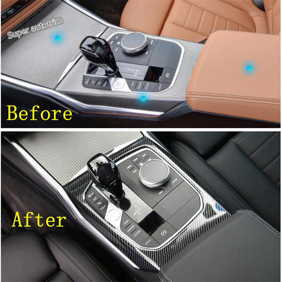 Center Air Condition Switch Cover Kit For BMW 3 Series G20 2019 Carbon Fiber ABS