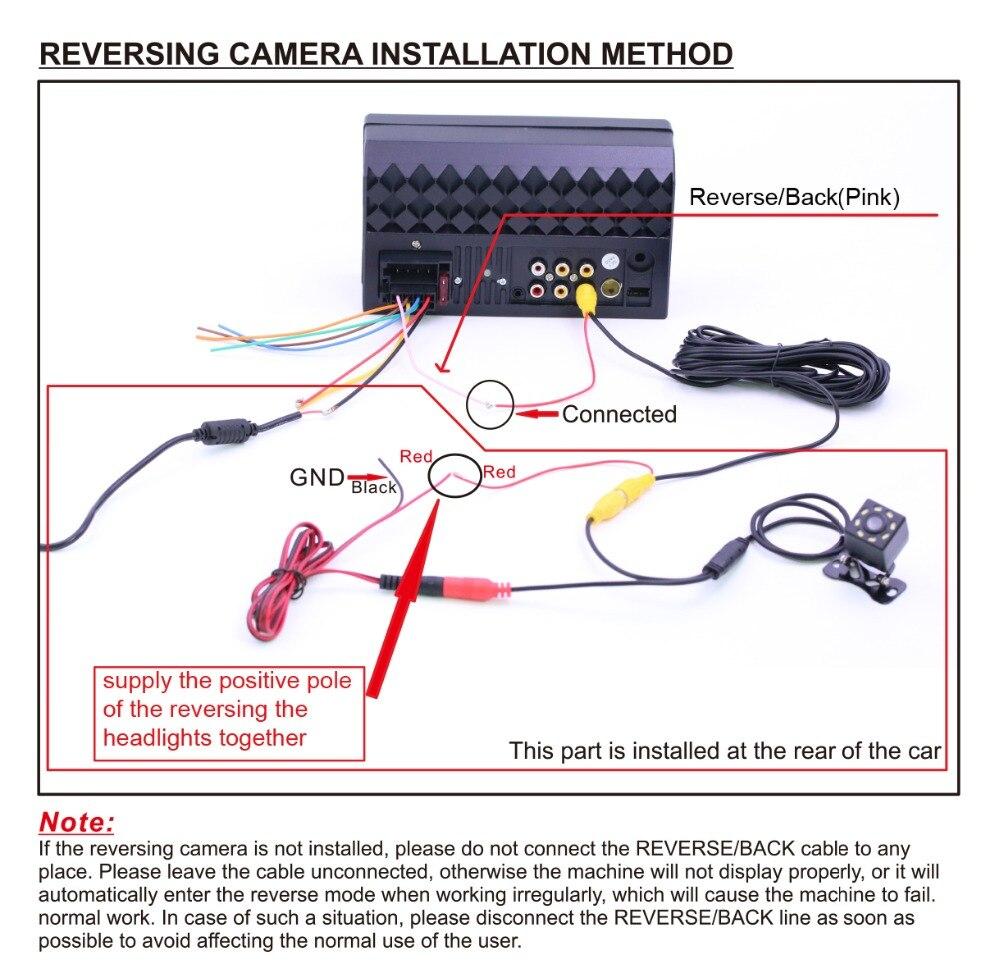 carplay radio camera wire connection