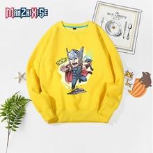 Child Girl Long Sleeve Clothes Autumn Winter Sweatshirts Cartoon Thor Printed Avengers Boy Tops Children Clothing Kids Pullover недорого