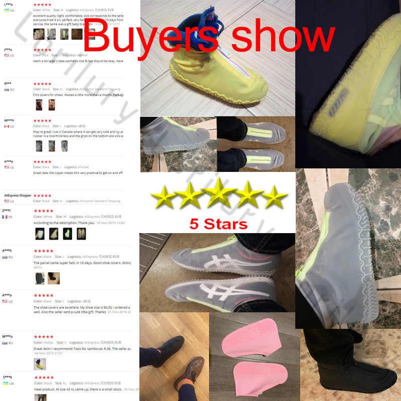 2020 printemps mode couverture de chaussure réutilisable fermeture éclair imperméable à l'eau couverture chaussures hommes/femmes chaussures de pluie couvre imperméable à l'eau