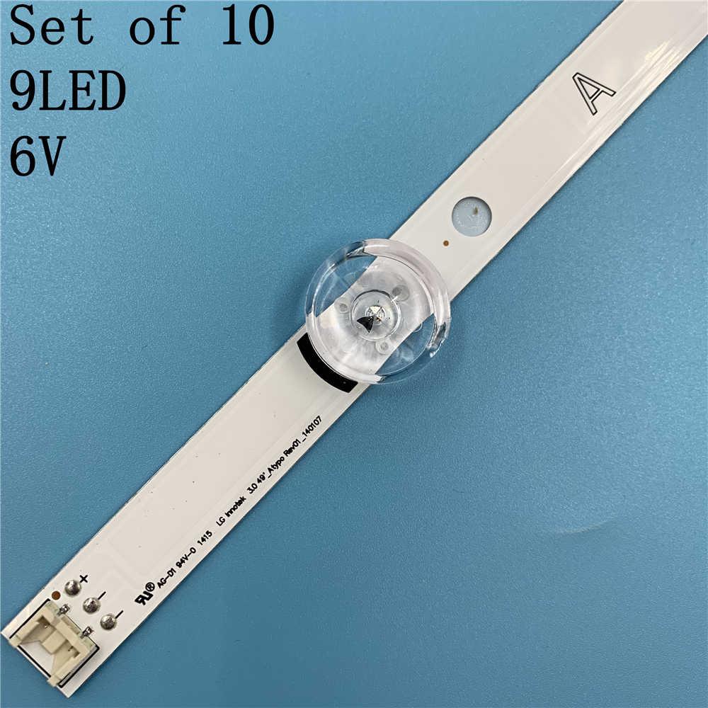 """Lámpara de luz de fondo LED, tira para LG Innotek DRT 3,0 49 """"AB 49LB552 49LB629V AGF78402201 49LB561U 49LB582V 49LF620V 49u4620v"""