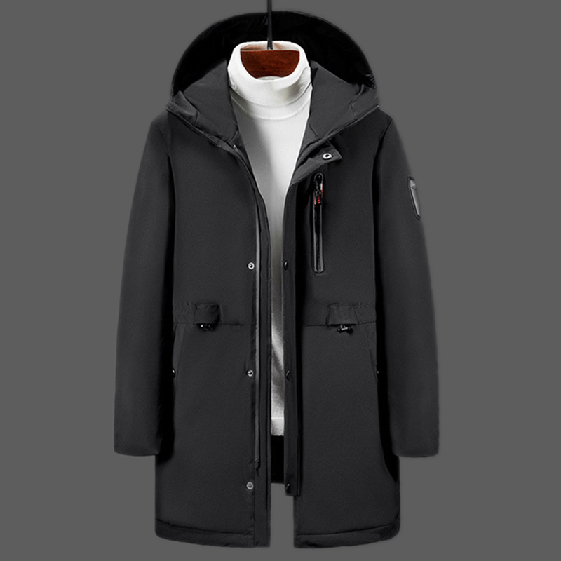 ZYNNEVA 2019 USB Safety Intelligent Electric Heating Jacket Graphene Long Section Men's Heated Coat Cotton Fever Clothes GK6120