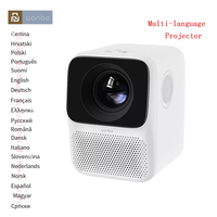 #Global Version# Wanbo T2 Free LCD Projector LED Support 1080P Vertical keystone correction Portable Mini Home Theater Projector
