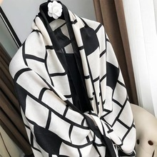 2019 женский модный ацтекский шарф с бахромой, Женский высококачественный пашминовый палантин Bufanda, мусульманский хиджаб, снуд 180*90 см