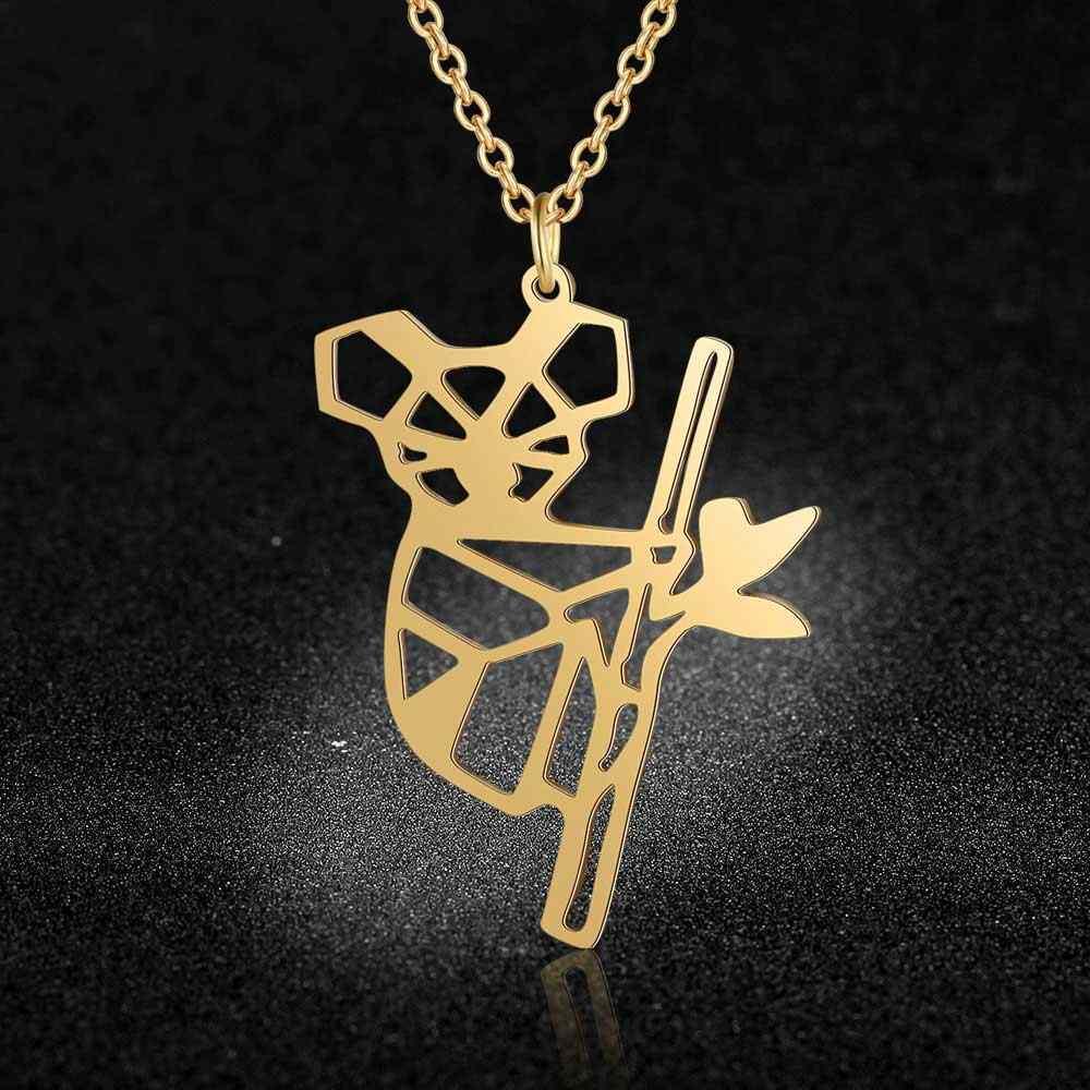Unikalne Koala niedźwiedź naszyjnik LaVixMia włochy projekt 100% naszyjniki ze stali nierdzewnej dla kobiet Super moda biżuteria specjalny prezent