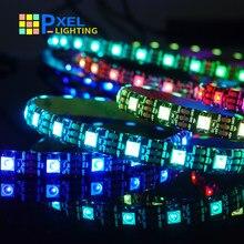 Ws2815 ws2812b led tira de luz 5050 contas luz néon sinal inteligente pixels endereçável duplo sinal quarto rgb cor cheia tira conduzida