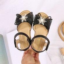 Fashion Butterfly-knot Sandal Non-slip Soft Kid Toddler Baby Shoes Summer Children's Girls Princess Open Toe Beach Sandals
