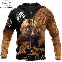 Охотничьи толстовки с 3d принтом медведя plstar cosmos/толстовки