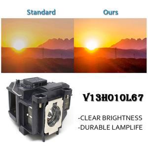 Image 2 - EB S02 EB S11 EB S12 EB W12 EB W16 EB X02 EB X12 EB X14 EB X14G EH TW550 EX3210 H494C Lampe De Projecteur pour ELPL67 pour EPSON