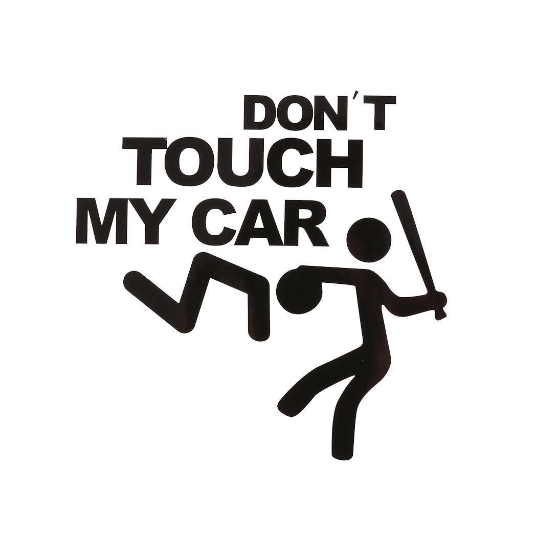 Don't Touch My Car Pattern Sticker Car Bumper Window Geometric Wall Black Decal Cartoon Sticker 2g