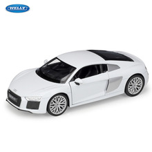 WELLY 1:24 Audi 2016 R8 V10 Car sports car simulation alloy car model crafts decoration collection toy tools gift цена в Москве и Питере