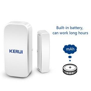 Image 2 - KERUI אינטליגנטי אלחוטי דלת פער חדש לבן 433 Mhz קשר אלחוטי דלת חלון מגנט כניסת גלאי חיישן חלון חיישנים
