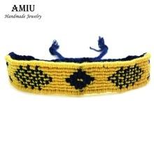 AMIU Handmade Popular Brand Bangle Weave Friendship Bracelet Brazilian Woven Rope String