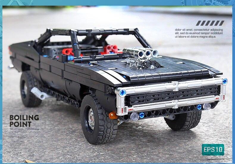 MOULD KING 13081 MOC 17750 Technic Ultimate Muscle Car Building Block (1098PCS) 10