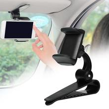 Universal 360 Car Sun Visor Phone Clip Holder Mount Stand For iphone XR GPS In Mobile