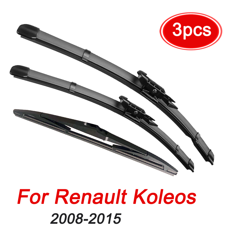 MIDOON Windshield Windscreen Wiper Blades For <font><b>Renault</b></font> <font><b>Koleos</b></font> <font><b>2008</b></font> 2009 2010 2011 2012 <font><b>2013</b></font> 2014 2015 Front Rear Window 24
