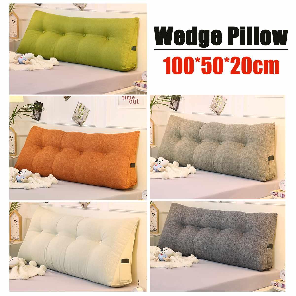 headboard pillow wedge shape back