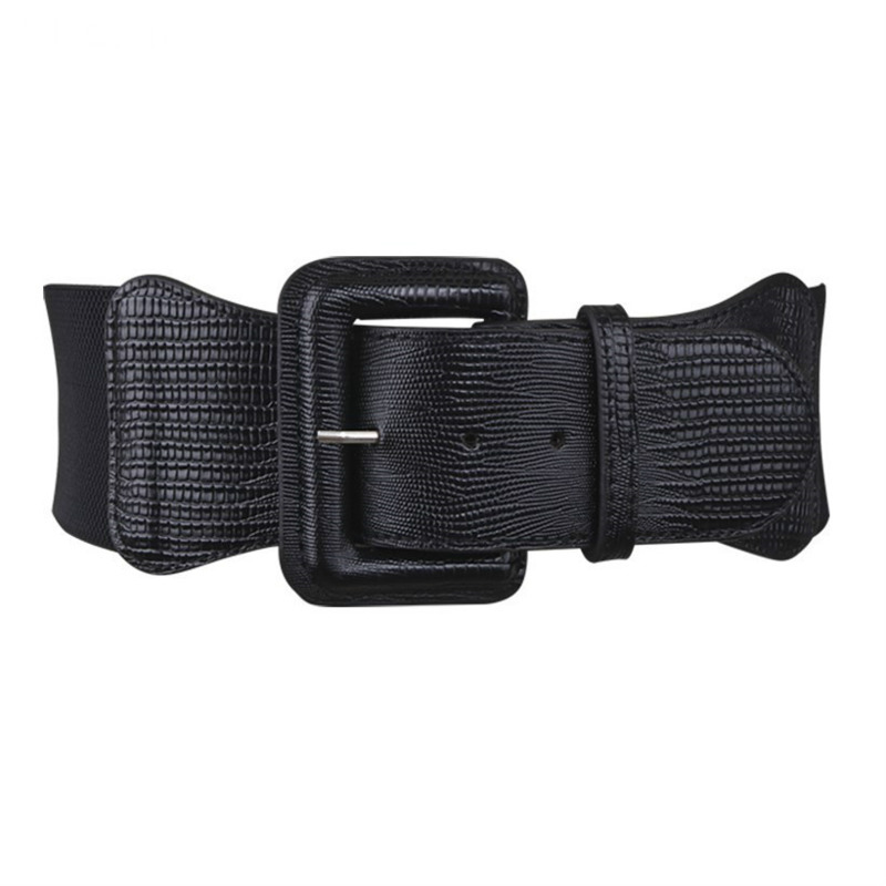 2020 New Fashion Spring Trendy Wide Belt For Women Black Red Solid Elastic Waistband Female Hot Sale Casual Corset Belt ZK269