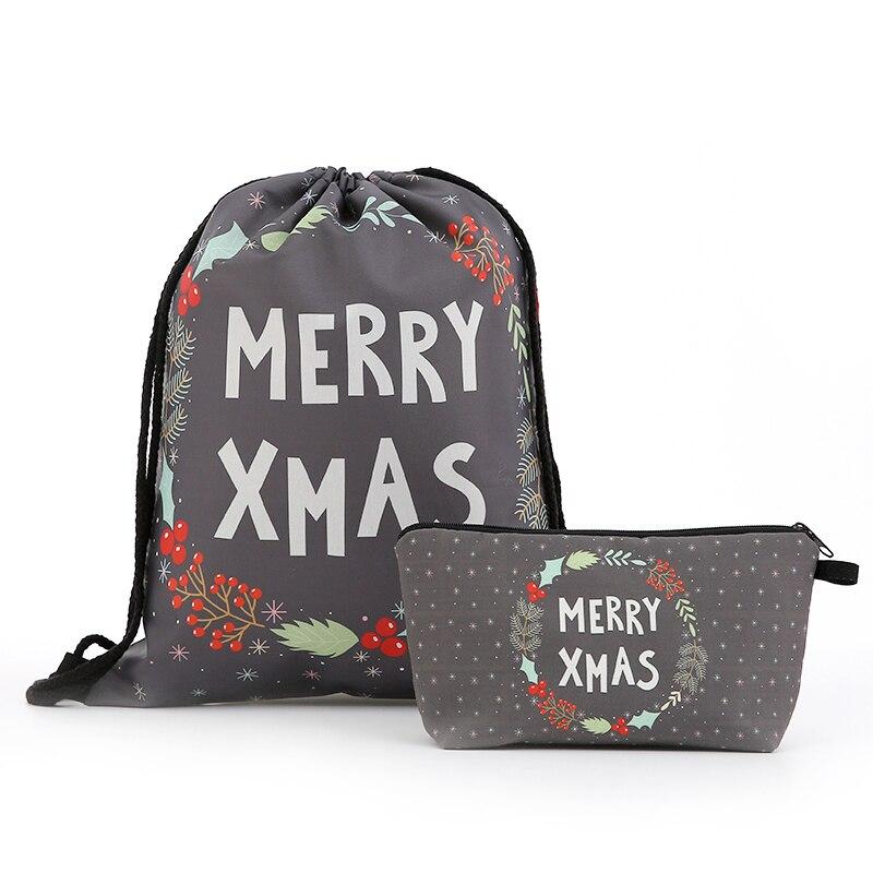 Backpack Drawstring Christmas Cosmetic Suit Drawstring Fashion Printing Travel Softback Men Bags Unisex Women's Shoulder New