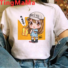 Hot Japanese Anime Cells At Work T Shirt Women Kawaii Cartoon Summer Tops T-shirt Funny 90s Manga Harajuku Unisex Tshirt Female