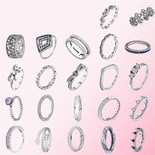 2019 100% Plata de Ley 925 clásico corona ciruela arco en forma de corazón personalidad femenina encanto anillo envío gratis al por mayor