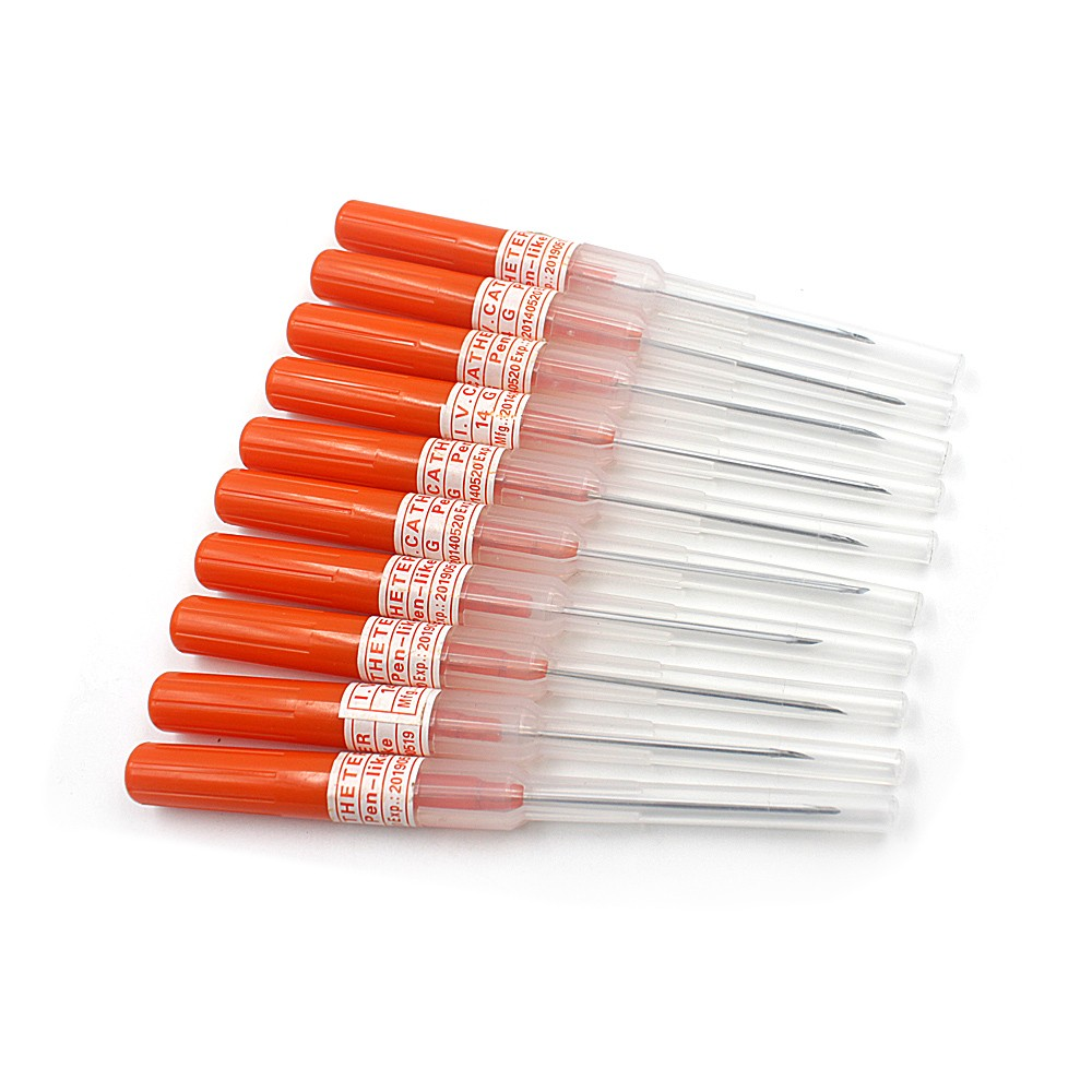 Купить горячая распродажа 50 шт 14 г иглы для пирсинга iv катетер стерилизованный