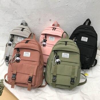 2020 New Backpack Women Nylon Cloth School Bags for Teenager Girls Fashion Rucksack Large Capacity Travel Shoulder - discount item  41% OFF Women's Handbags