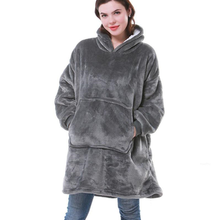 Sweatshirt Women Oversized Hoodie Fleece Warm Hoodies Giant TV Blanket Hoody Robe Casaco Feminino Male Women's Home Clothes