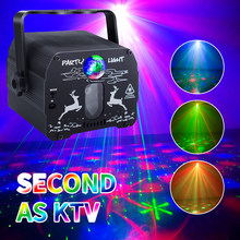 Stage Lamp Led Disco Light Laser Projector Disco Lamp with Voice Control Sound Party Lights for Home DJ Laser Show Party Lamp