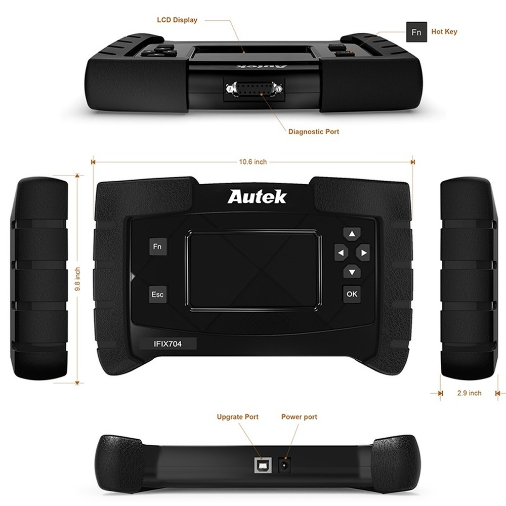 Autek IFIX704 Full System OBDII Auto Scanner For Chrysler Ford Toyota ABS Airbag SRS IMMO Multi Language OBD2 Diagnostic Tool - 5