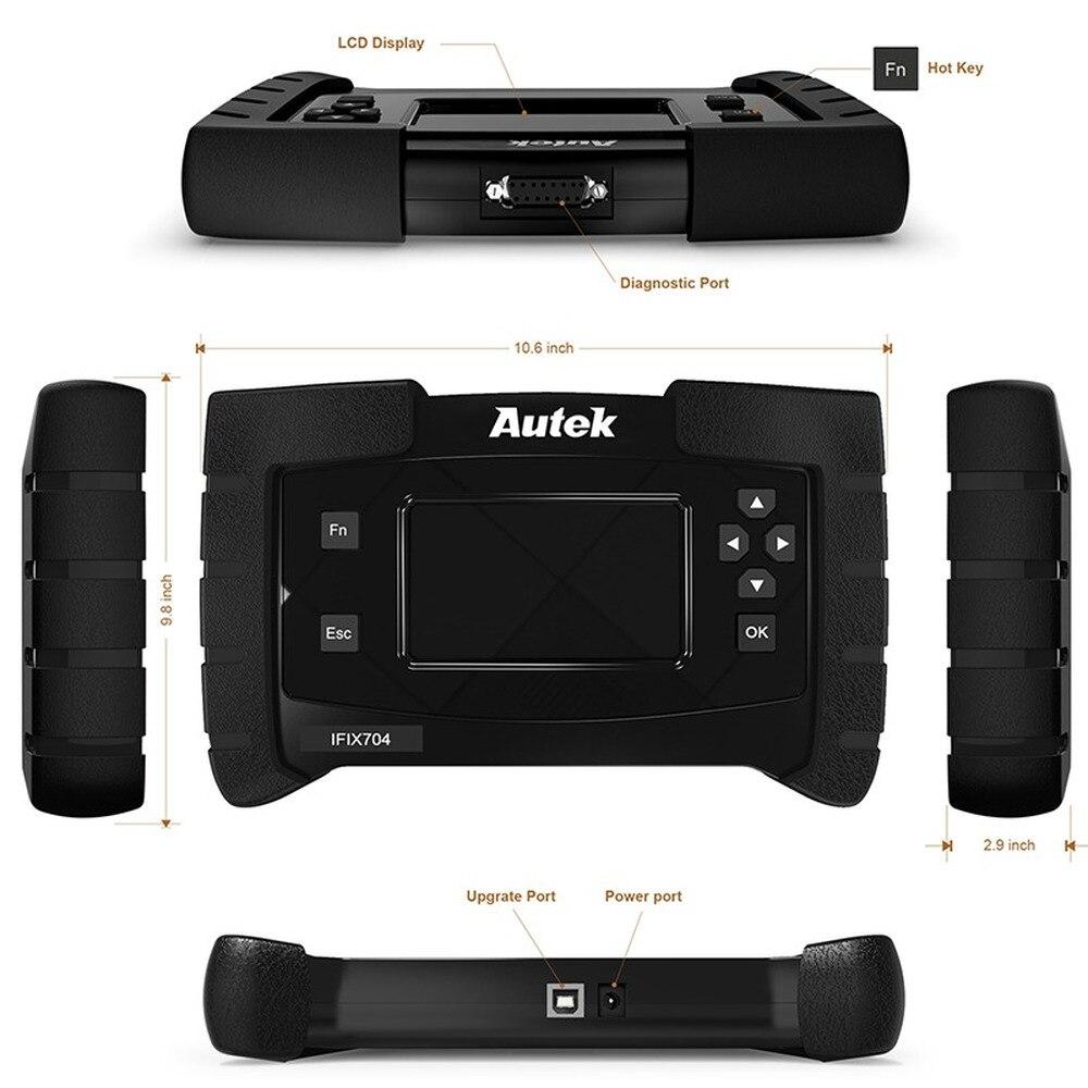 Scanner automatique d'obdii de système complet d'autek IFIX704 pour l'outil de Diagnostic OBD2 multilingue de SRS IMMO d'airbag d'abs de Toyota de Chrysler Ford - 5