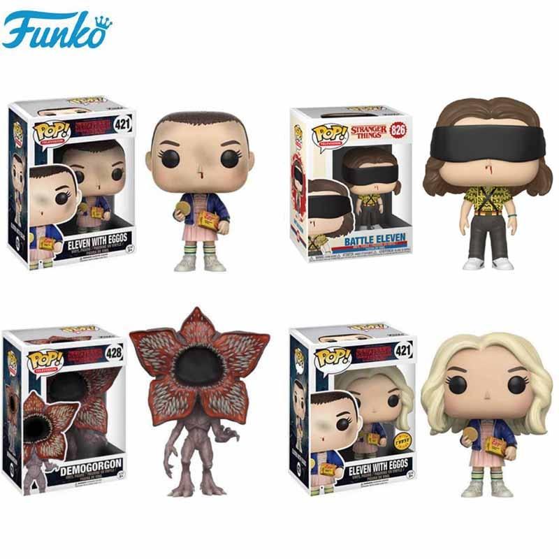 Funko POP Stranger Things Little Eleven Riverdale Demogorgon Hopper Jonathan Collection 10cm Action Figures Toys for Gifts