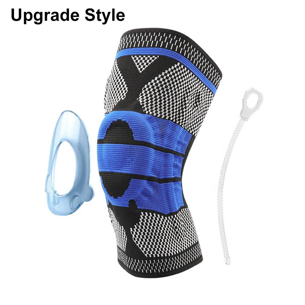 Противоскользящие наколенники для поддержки суставов, Защитные Спортивные наколенники, дышащие, 1/2 шт, мощность подъема, мощная сила отскока, наколенник - Цвет: Upgrade 2
