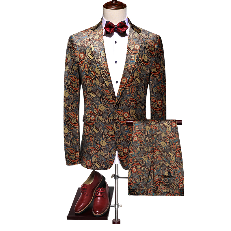 luxury single button mens suits with pants 2019 new brand wedding tuxedos slim fit groom