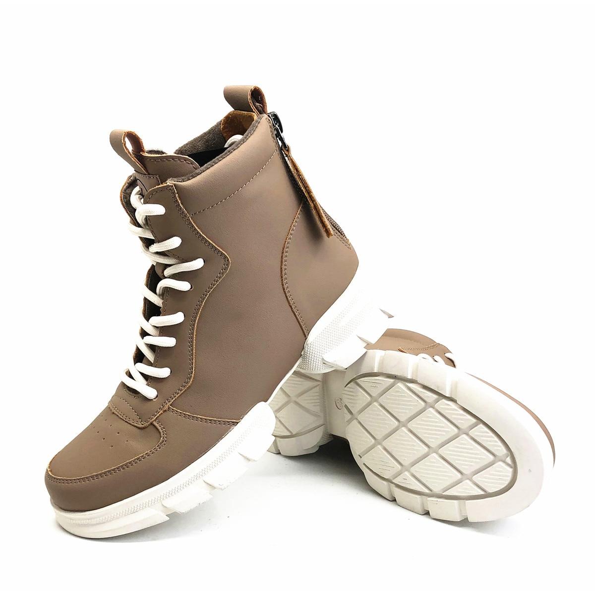 CAILASTE/женские кроссовки; ботинки со шнуровкой на молнии; ботинки шнурки для отдыха; обувь на платформе с бархатной стелькой; спортивные женск... - 5