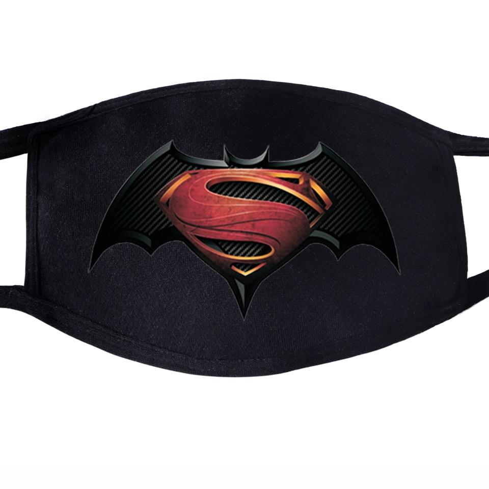 The Avengers Superhero Batman Superman Clark Kent Face Mask Mouth 1pcs Dustproof Unisex Anti Black Respirator Protective Masks