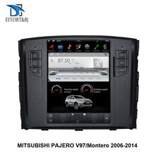 10.4 inch Tesla style Screen Android 9.0 Car GPS Navigation For MITSUBISHI PAJERO V97/Montero2006 2015Carradio player head unit